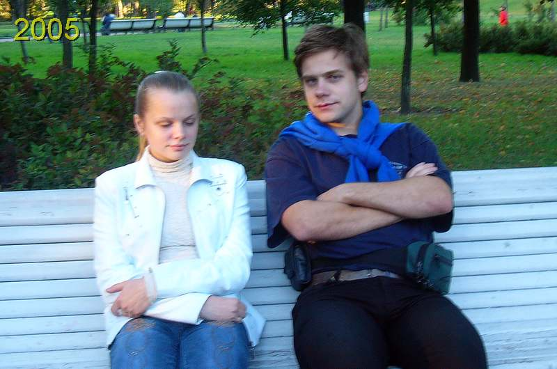 Мы с Кариной в далеком 2005 году